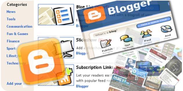 Social media widgets blogger